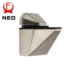 NED 5808M Glass Clamp Zinc Alloy Fish Shape F Fixed Clamps Adjustable Type  For Shelf