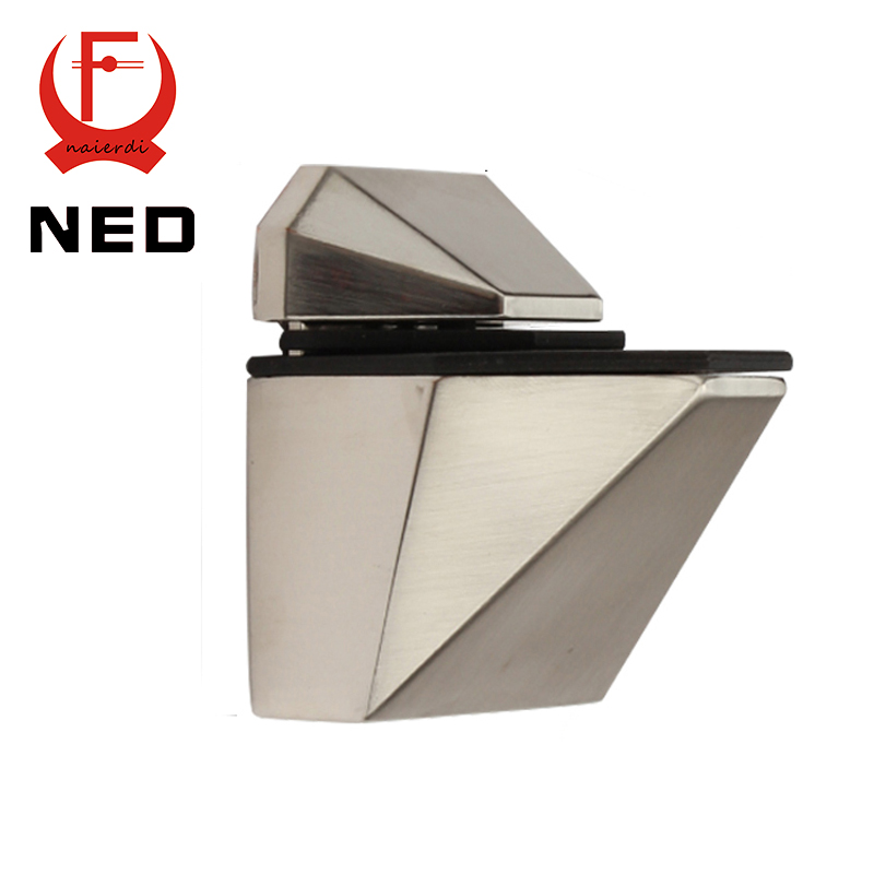 2PCS NED-5808M Glass Clamp Zinc Alloy Fish Shape F Fixed Clamps Adjustable Type For Shelf Bracket Accessories Furniture Hardware