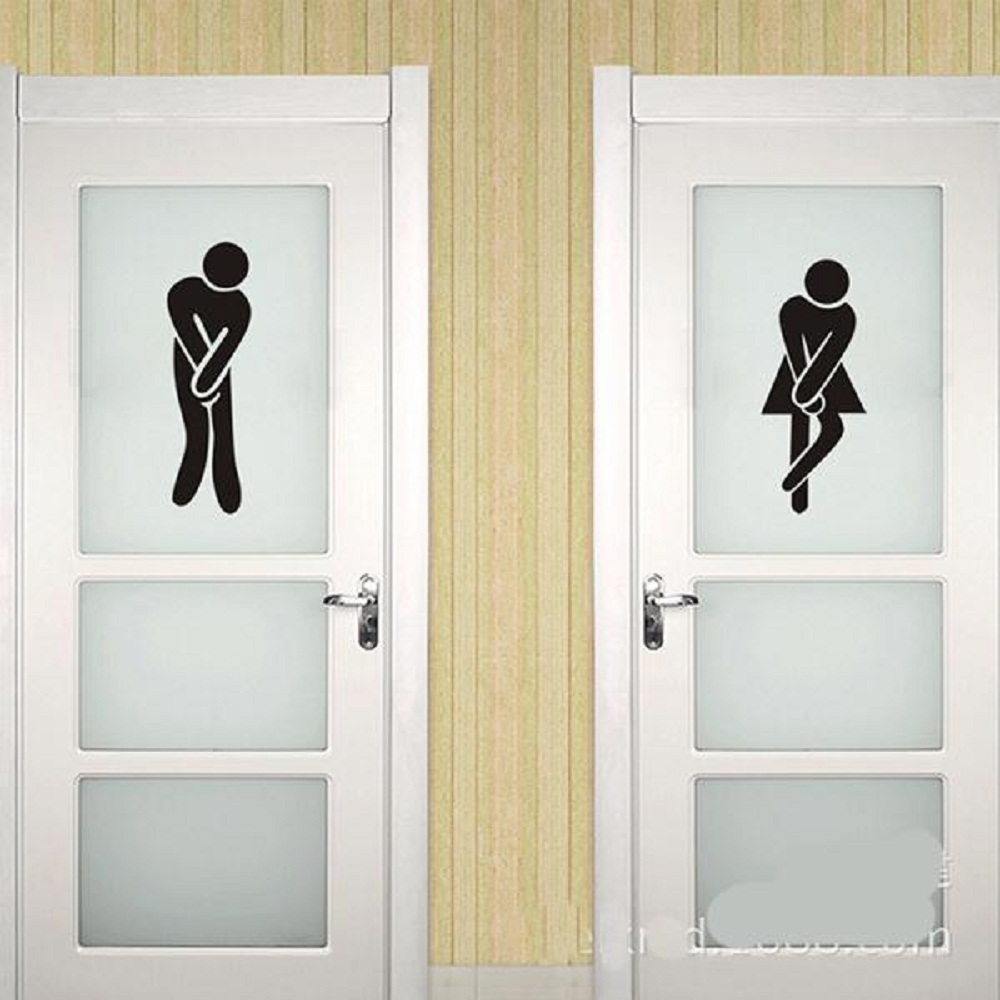 Ladies Or Gents Plaques Mark Men&Women Wall Poster Washroom WC ...