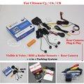 For Citroen C5 / C6 / C8 - Car Parking Sensors + Rear View Back Up Camera = 2 in 1 Visual / BIBI Alarm Parking System
