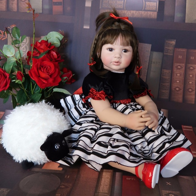 60cm Silicone Reborn Baby Doll Toy Like Real