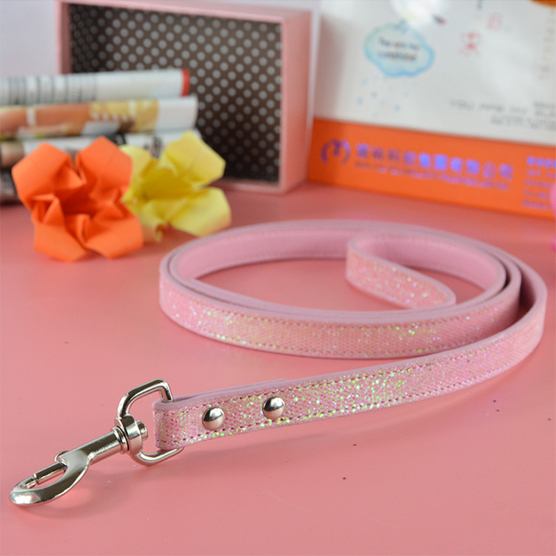 New Global Baby Brand Bling Leather Dogs Pets Puppy Leashes Lead