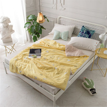 Super Soft Air Conditioner Summer Cooling Lightweight Quilt Print Single King Size Ins Style PP Cotton
