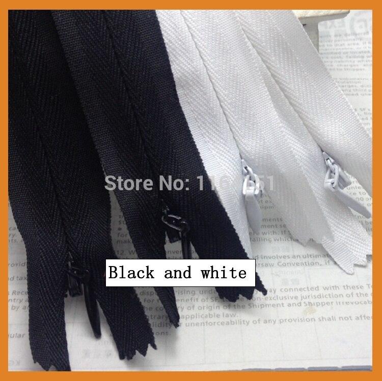 14 шт/лот белые и черные нейлоновые молнии портной канализационный крафт 40 см Швейные материалы/аксессуары для одежды