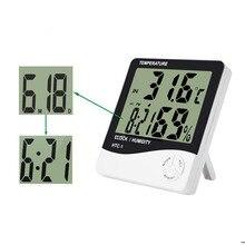 Метеостанции влажности гигрометр измеритель закрытый точность жк-цифровой температуры термометр электронный высокая