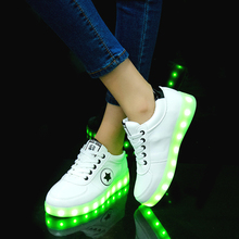 2019 USB Charging Sneakers with Backlight Glowing Sneakers with Luminous Sole Lighted Kids
