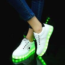 2020 USB טעינה סניקרס עם תאורה אחורית זוהר סניקרס עם זוהר בלעדי מואר ילדי נעלי בנות סניקרס הזוהר