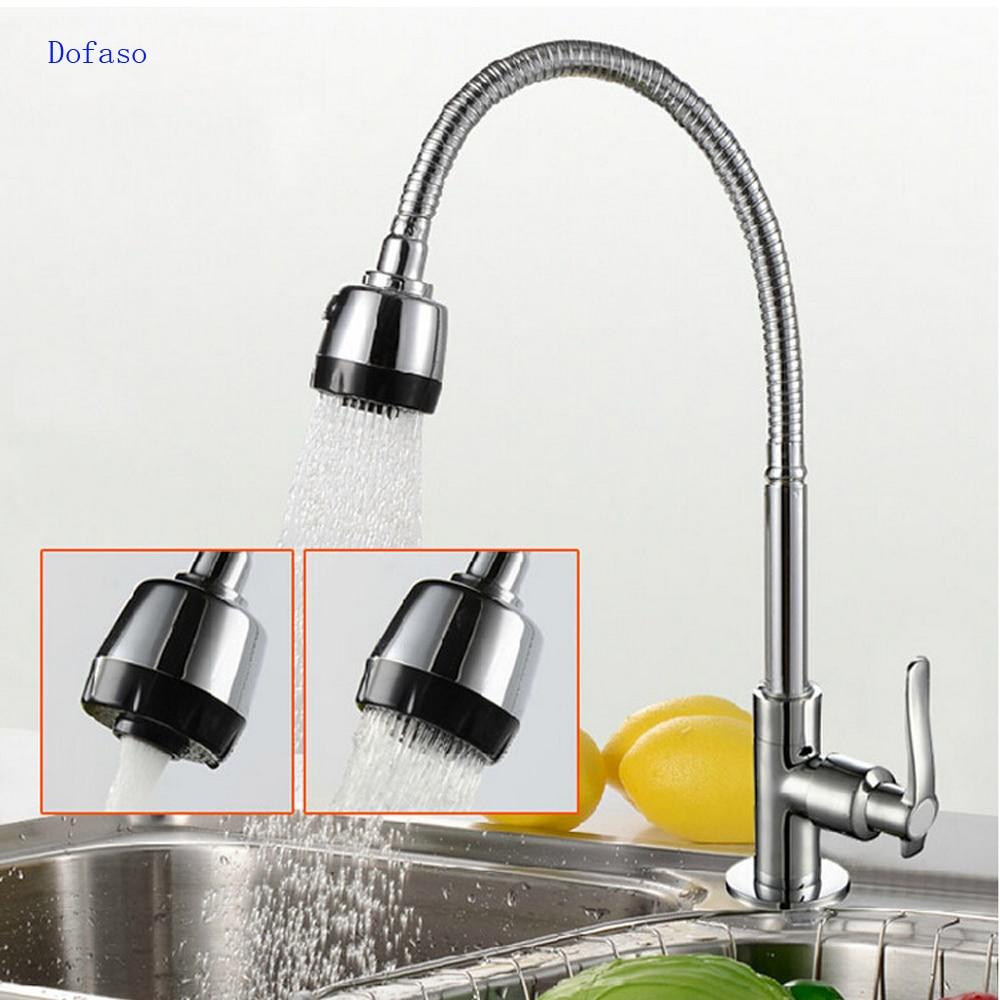 ∞Dofaso kitchen shower faucet spring kitchen faucet brass 360 ...