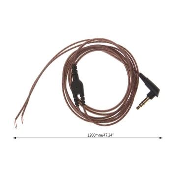 New Hot 3.5mm OFC Core 3-Pole Jack Headphone Audio Cable DIY Earphone Maintenance Wire Headphone Wire
