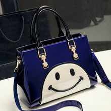 0824-01 Europe and America New Fashion Fashion smiling Women shoulder bag Leather Ladies handbag
