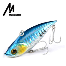 Meredith Fishing Rattlesnake Lures 1pcs 18g 7.5cm VIB Lures Fishing Vibration For All Water Levels wobblers Hooks  Carp Fishing