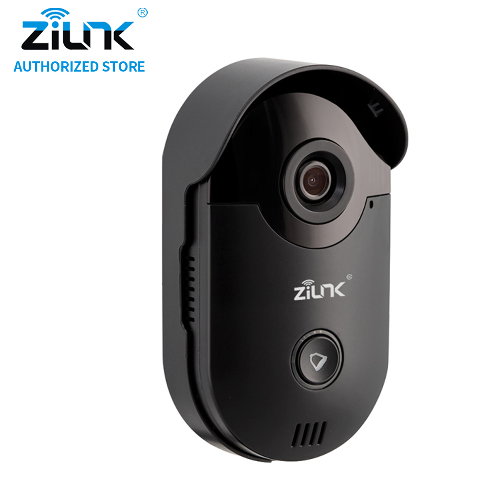 Zilnk interphone vidéo hd 720 p wifi sonnette home security camera vision nocturne sans fil interphone sans intérieur cloche noi