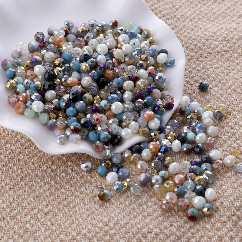 STENYA 4*3 мм Разноцветные кристаллы бусины Рондель граненый шарик лук узел Diy ювелирных изделий кварцевая Серьга ожерелье аксессуары