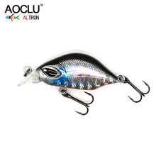 AOCLU wobblers 6 Colors 3cm 3.0g Sinking Hard Bait VIB Minnow Crank Fishing lures Bass 14# VMC hooks tackle free shipping 2018 aoclu new wobblers 100mm 12 5g sinking hard bait minnow depth 1m fishing lure vmc hooks 6 colors tackle quality hot sale