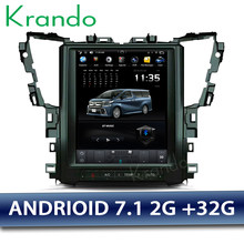 "Krando Android 7.1 10.4"" Tesla Vertical car multimedia player GPS for Toyota Alphard navigation system radio audio stereo BT(China)"