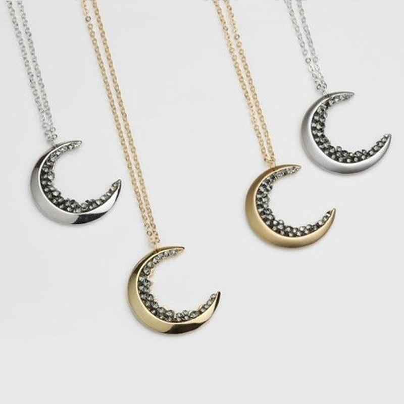 Charme de mode Colliers et pendentifs pour les Femmes Lune Colliers chaîne de boîte 925 Argent meilleur ami bijoux Cadeau 4100222