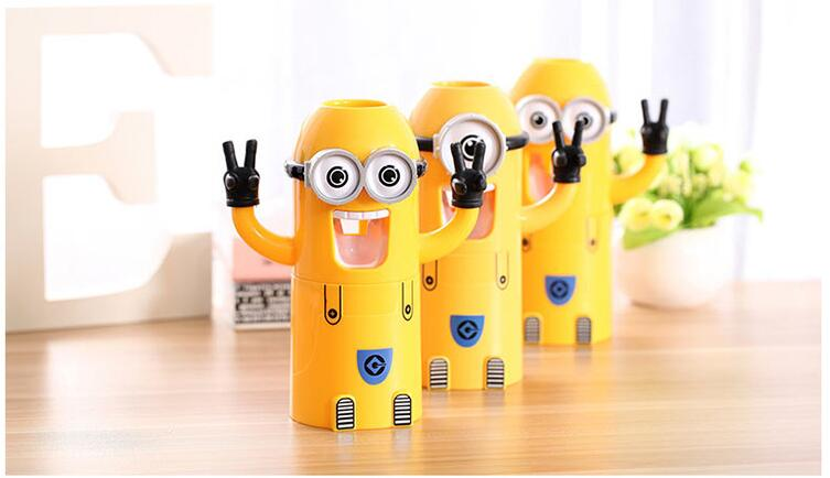 minion bathroom set. Aliexpress HOT Minions Toothbrush Holder Automatic Toothpaste Minion  Dispenser With Brush Cup Bathroom Set accessories Product in Accessories Sets