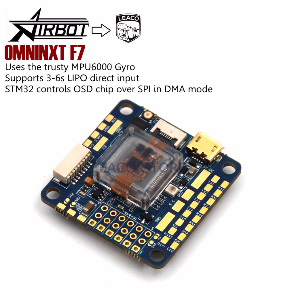 OMNINXT F7 Airbot top of the range flight controller based on the Omnibus F7 v2 for quadcopter pradella f7 802sj