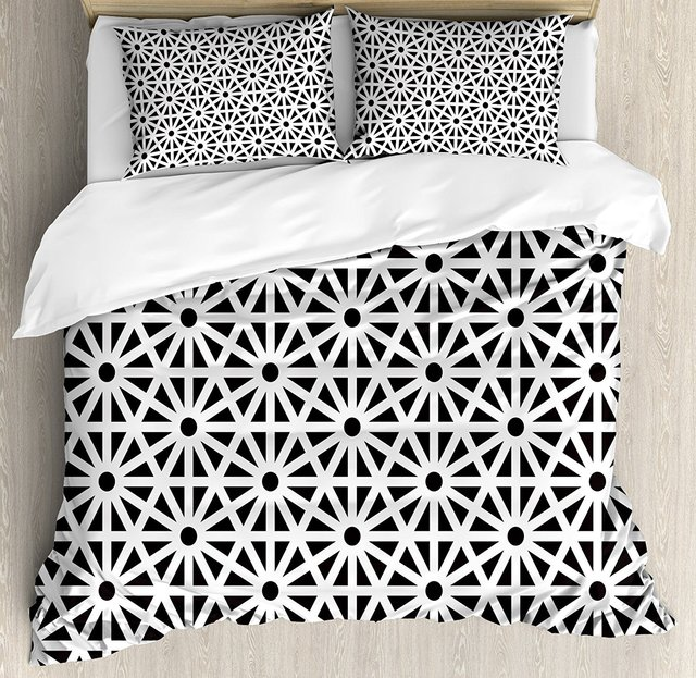 Superbe Arabesque Duvet Cover Set, Authentic Moroccan Style Old Motif With Oriental  Effects Middle Eastern Print, 4 Piece Bedding Set