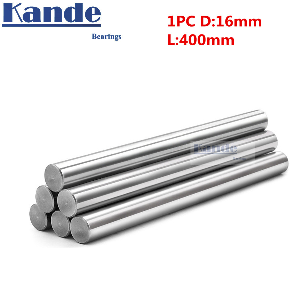 1pc d:16mm 400mm 3D printer rod shaft 16mm linear shaft chrome plated rod shaft CNC parts Kande kande bearings 1pc d 16mm 3d printer rod shaft 16mm linear shaft 230mm chrome plated rod shaft cnc parts 100 700mm
