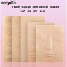 5 tipi di Silicone 3D Pratica Del Tatuaggio di Falsificazione Della Pelle Sopracciglio Labbra Viso Occhi In Bianco Permanente di Trucco Principiante Pelle di una Formazione di Microblading