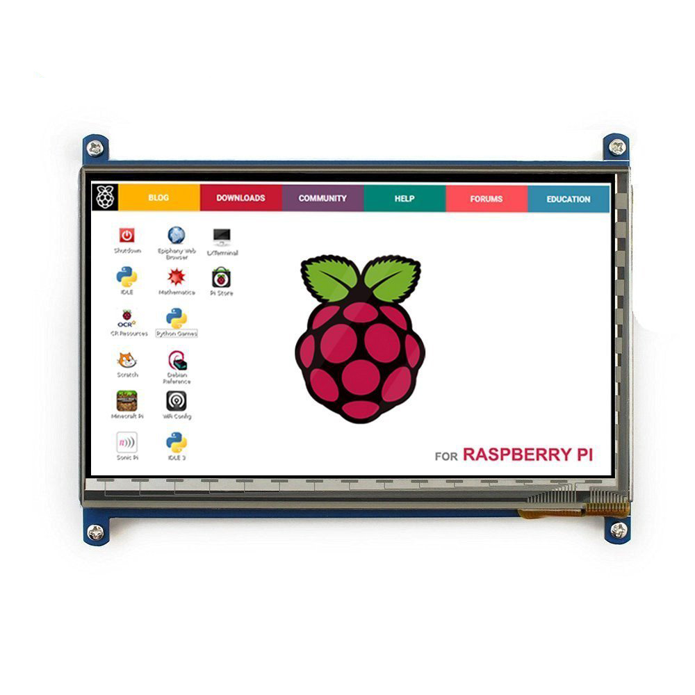 Display Monitor <font><b>7</b></font> <font><b>Inch</b></font> 1024X600 HD TFT <font><b>LCD</b></font> with Touch Screen for Raspberry Pi B+/2B Raspberry Pi 3 image