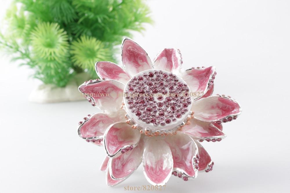 6b493f24bfe6 Flor de loto joyería titular y trinket Lotus-inspirado baratija decorativo  flor floral forma tesoro recuerdo caja de anillo