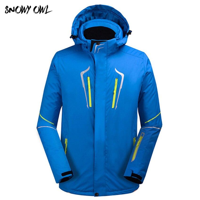 2018 Hommes Vestes de ski marques En Plein Air Chaud Snowboard Veste manteau masculin imperméable veste de neige Homme sportswear vêtements d'hiver h240