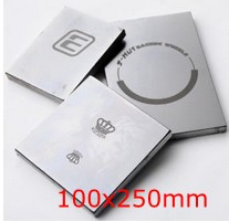 100x250mm size pad print cliche making , customized pre-imaged metal plate board