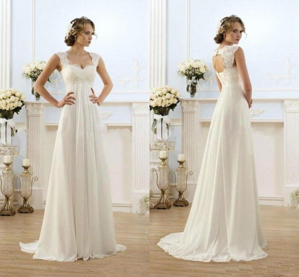 JC&STAR 2017 Beach Chiffon A Line Wedding Dresses Empire Waist ...