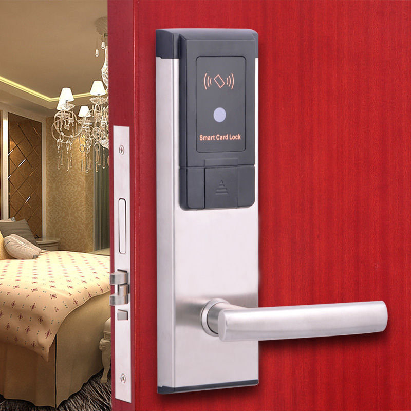 RF card digital door lock Intelligent hotel lock A03 intelligent rf card lock system for hotel electric lock
