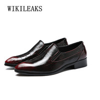 high quality croco leather italian mens shoes oxford shoes for men formal wedding dress shoes zapatos hombre sapato masculino