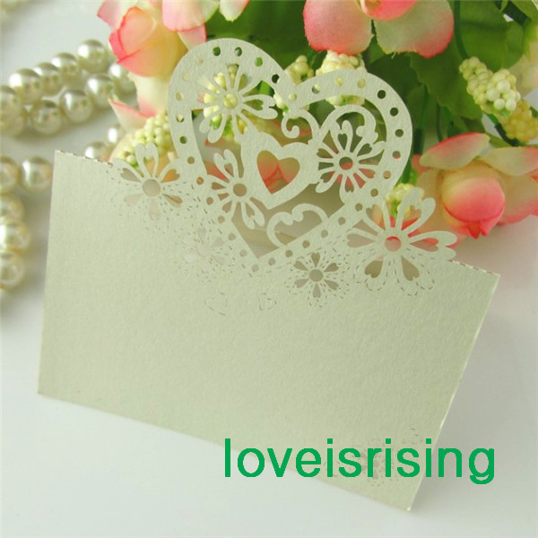 Free shipping 50pcs ivory color laser cut place cards wedding name free shipping 50pcs ivory color laser cut place cards wedding name cards for wedding solutioingenieria Images