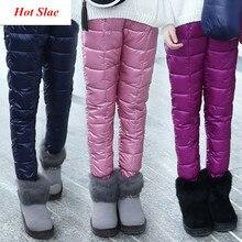 Zima dzieci puchowa odzież bawełniana chłopięce spodnie dziewczęce leginsy dziecięce ciepłe spodnie wiatroszczelne wodoodporne spodnie śnieżne dla dzieci