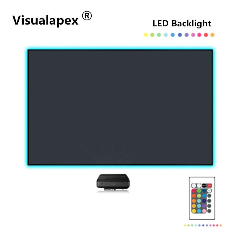 F7HSP 16: 9 HDTV nouvelle génération 3rd ALR ultra mince écran à cadre fixe pour projecteur UST