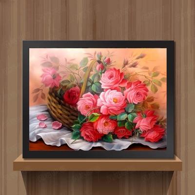 Izšuvumi Diamond Embroidery Icon Ziedi Red Rose Diamond mozaīkas - Māksla, amatniecība un šūšana