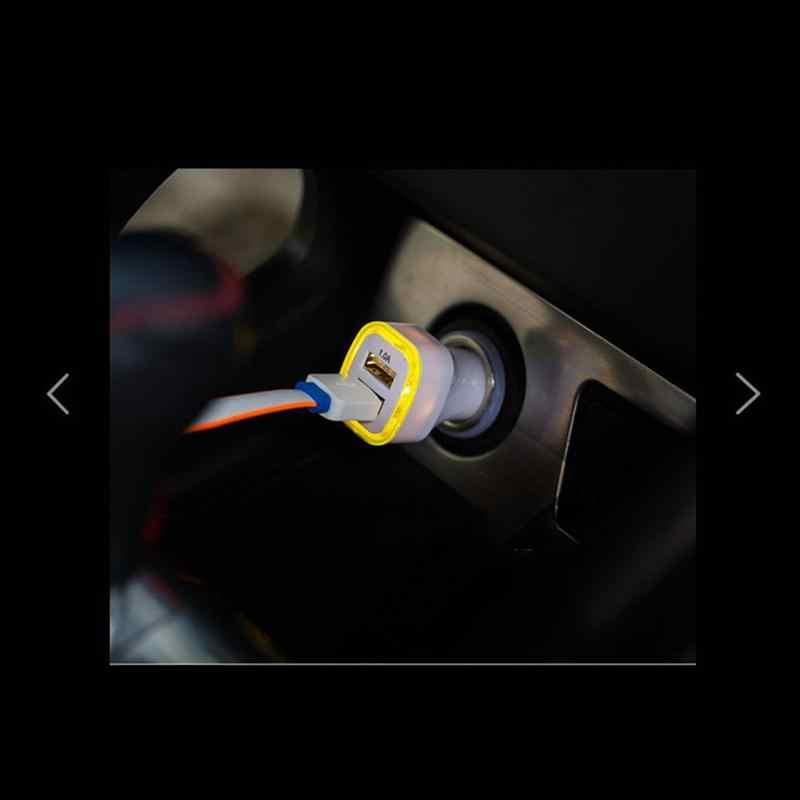 VORCOOL شاحن سيارة ذكي 1A 2.1A منافذ USB مزدوجة مع مصباح ليد سيارة شحن الطاقة محول ل فون باد GPS