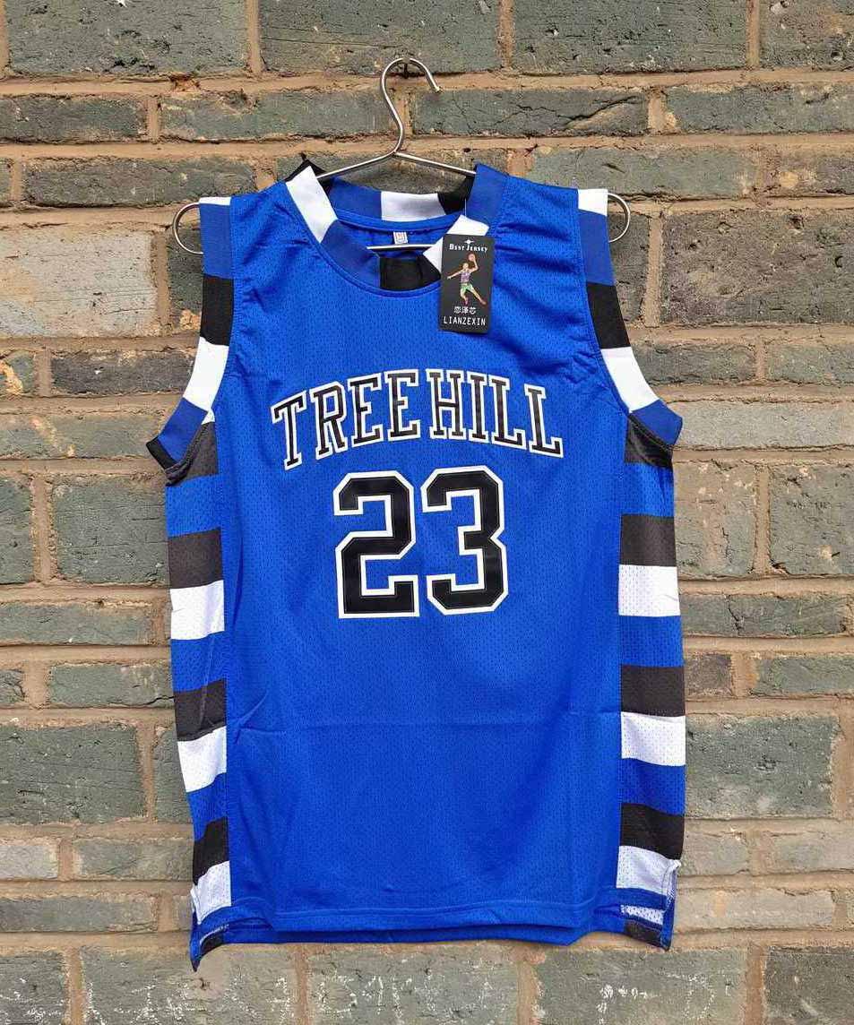 LIANZEXIN Anzahl Der film version von One Tree Hill Nathan Scott Jersey Brauchen doppel genäht sport basketball jerseys Blau verkauf