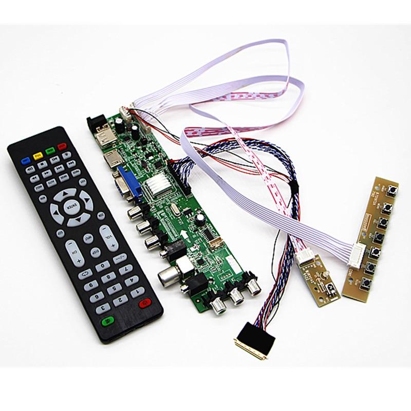 """Tüketici Elektroniği'ten Radyo ve TV Yayın Ekipmanları'de DVB T2/DVB T/DVB C LCD dijital TV Sürücü Denetleyici Kurulu Kiti 17.3 """"N173O6 L02 B173RW01 1600*900 LCD denetleyici kurulu DIY kiti title="""