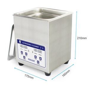 Image 2 - Skymen Digital Ultrasonic Bath Cleaner 2L 60W ultrasonic solution with heater Coins Nail Tool Part Cleaning Machine