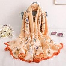 Luxury Women Scarf Designer 2019 Print Silk Scarfs Foulard Hijab for Female Sunscreen Beach Scarves Pashmina Shawl