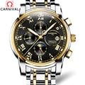 CARNAVAL 2019 Zakelijke Horloge Mannen Automatische Lichtgevende klok Mannen Waterdichte Mechanische Horloge Top Merk maanfase relogio masculino