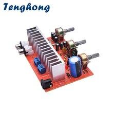 Tenghong 1pcs DC12V TDA7377 Bordo Amplificatore Audio di potenza 40W * 2 Stereo A Doppio Canale di Alimentazione Amplificador Bordo 40W + 40W Altoparlante Per Auto