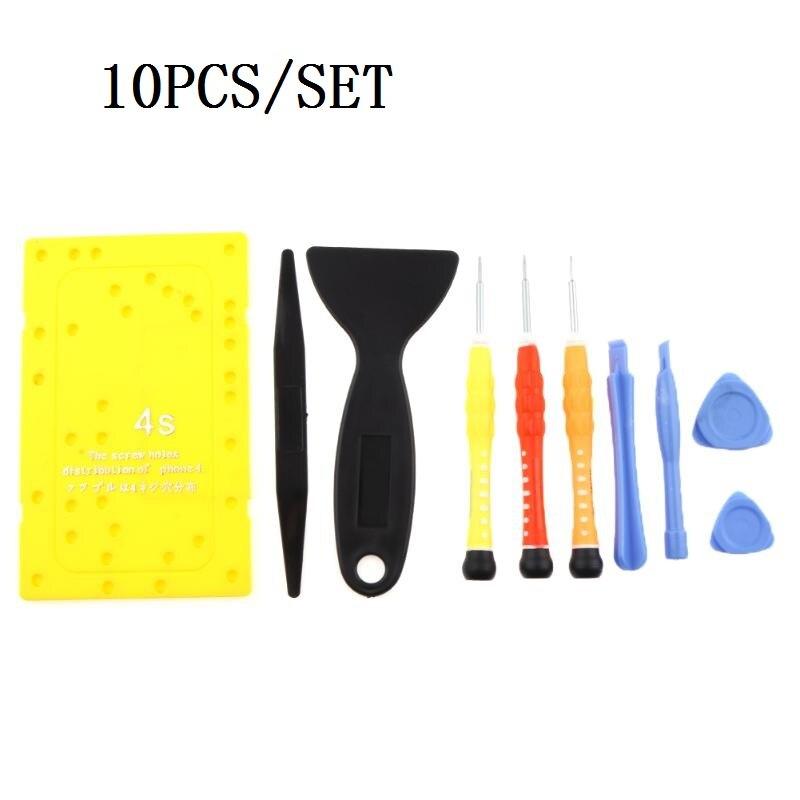 8-10PCS Mobile Phone Repairing Tool Kit Prying Bar Precision Electronics Repair Tools Kit with screwdrivers for iPhone3 4 4S