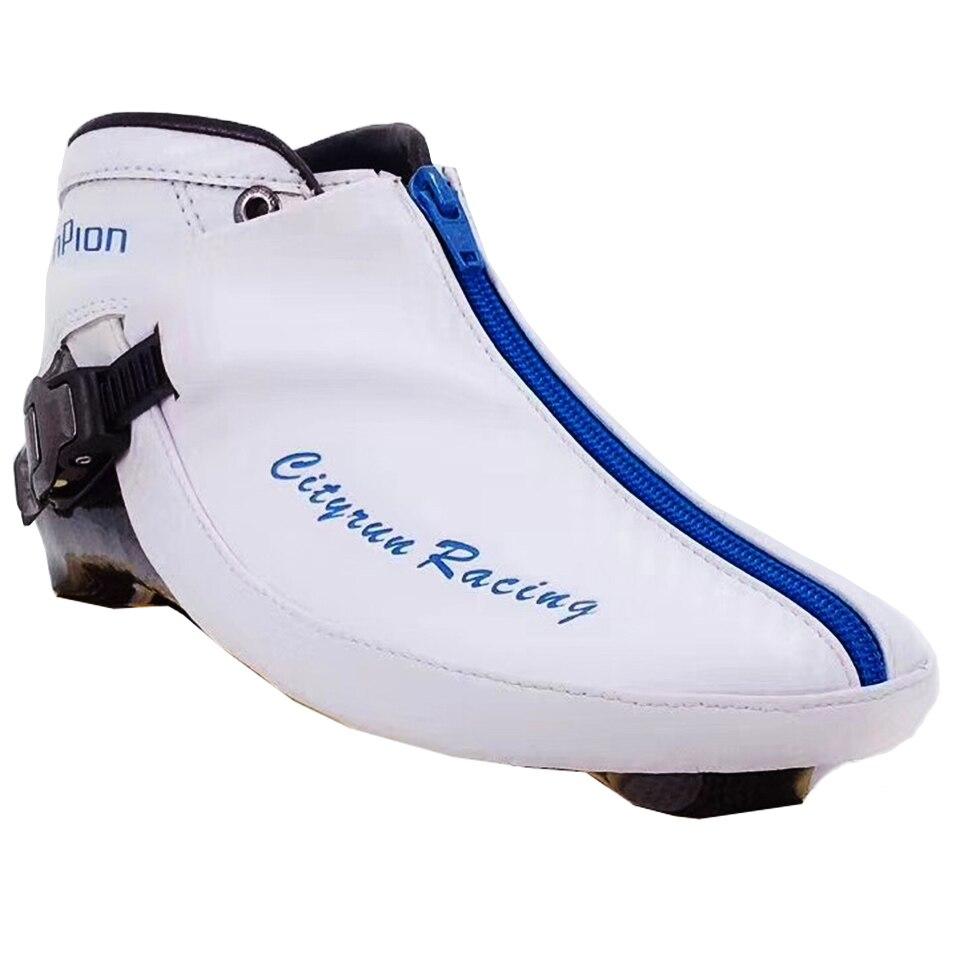 2019 Cityrun Up Bottes pour Vitesse Inline Patins En Fiber De Carbone Chaussures Supérieures Professionnel Enfants Adultes Course De Patinage Patines Boot Zip