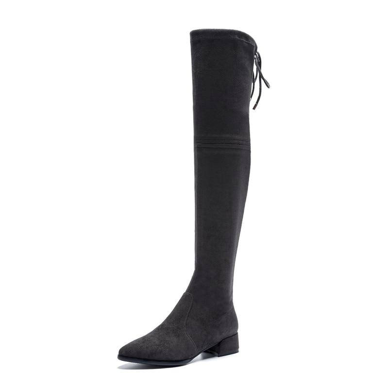 FEDONAS 2019 nowe Over The buty do kolan grube obcasy szczupła długa jesień zima buty kobieta mocno wysokie Prom buty do tańca buty w Buty za kolano od Buty na  Grupa 2