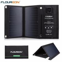FLOUREON 15W Solar Panel Charger with Built in Ammeter Dual USB Ports Waterproof Foldable for Smartphones Tablets Camping Travel