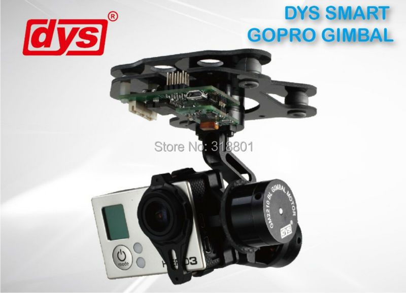 DYS 3 Axis Smart Gopro Brushless Gimbal Camera Mount w/Motor & Gimbal Controller for FPV Aerial Photography dys 3 axis gimbal mount kit 3pcs 4108 brushless motor 8bit alexmos controller for sony nex ildc camera photography fpv