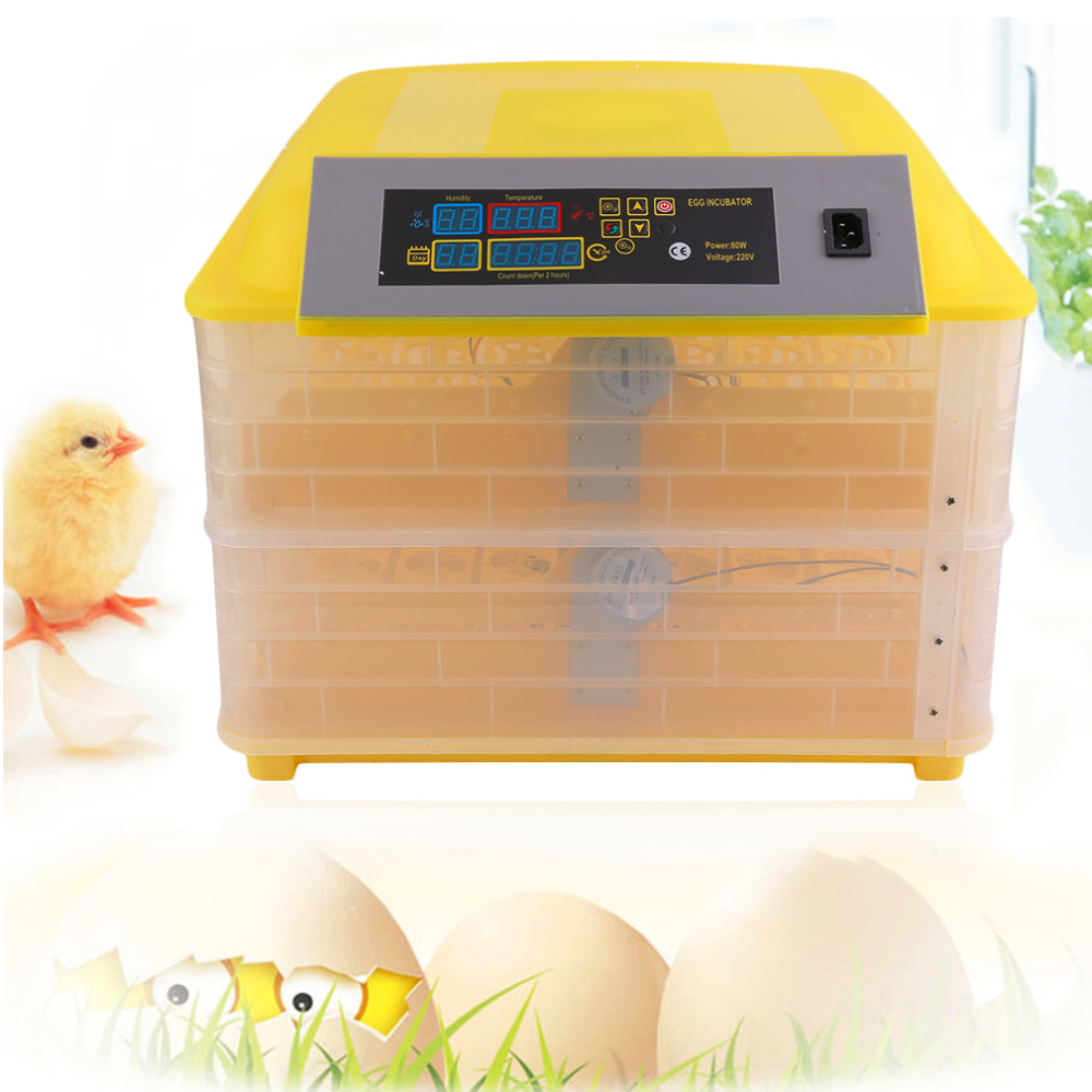 Automatic 96 Egg Turner Full Automatic Egg Incubator for Chicken with Digital Commercial Thermostat Control Free Shipping newly automatic 96 eggs incubator digital control turner easy observation for poultry waterfowl