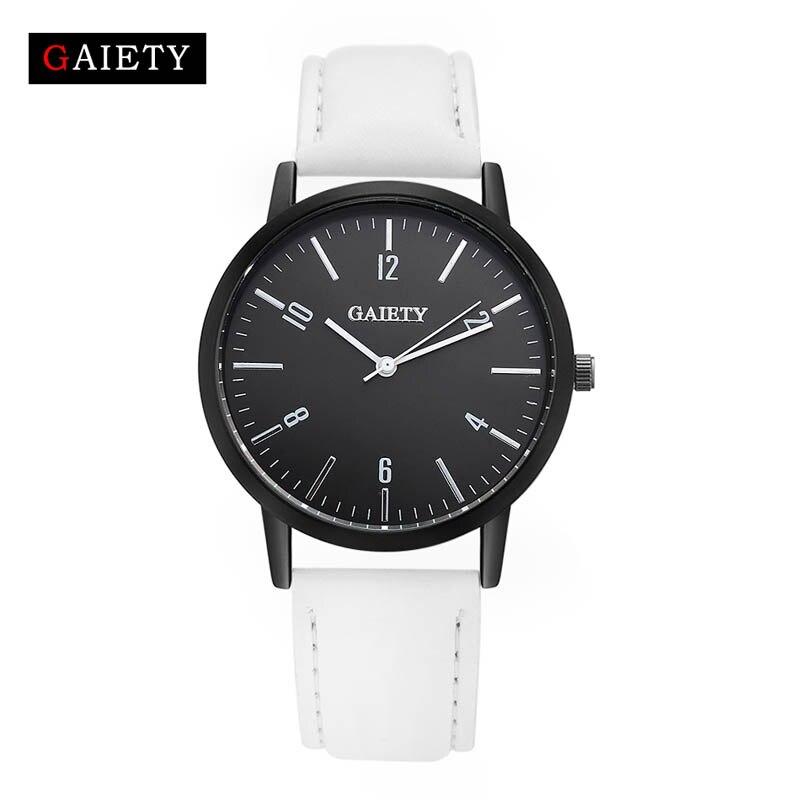 Fashion Simple Men/Women Watches Casual  Leather Strap Quartz Wristwatch Watch Gift LL@17